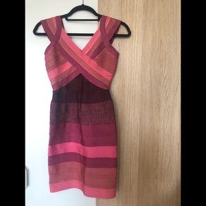 Aqua Ombré bodycon dress